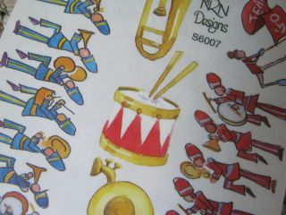 Marching Band Scrapbook Stickers Instruments on Sheet NRN Designs L K