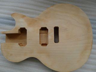 Mahogany L P Guitar Body Maple Top Tremolo Bridge Carved Unfinish Set