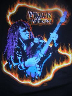 Vintage Copyrighted Yngwie Malmsteen Rock Band Shirt