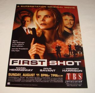 2002 TBS TV Ad Page First Shot Mariel Hemingway