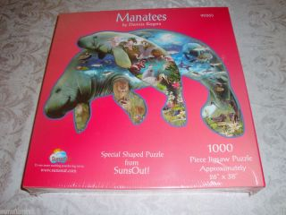 Manatees Sunsout 1000 Piece Shaped Puzzle New