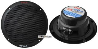 400 Watts 6 5 Dual Cone 2 Way Full Range Black Marine Speakers