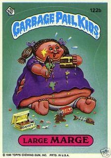Garbage Pail Kids 3rd Series 3 122B Large Marge Sticker