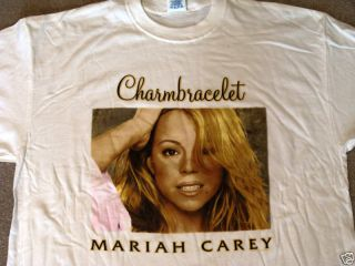 Mariah Carey 2003 Tour T Shirt XXL Charmbracelet New