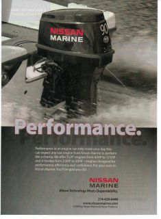 2011 Nissan Marine Outboard Motor Boat Magazine Print Advertisement