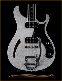 Paul Reed Smith PRS SE Custom 22 Semi Hollow with Bigsby Silver