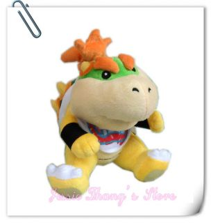 New Super Mario Bros Bowser Jr Plush Doll Toy 7