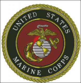 USMC Marines Logo Cross Stitch Pattern