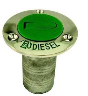 Marine Stainless Steel Boat Diesel Deck Fill Color Code Green Cap