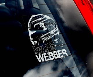 Mark Webber   Formula 1 Car Sticker   Helmet   F1 Red Bull Racing