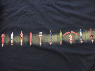 Mens Navy Blue T Shirt Shirt So Many Choices Beers Ales Taps Duph Bush