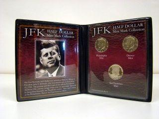 FCM JFK Kennedy 1981 Half Dollar Mint Mark Collection