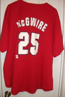 Mark McGwire St Louis Cardinals Jersey by True Fan Size XL