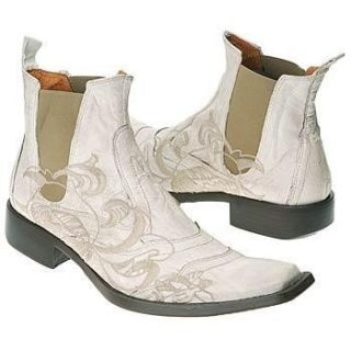 Mark Nason Jam White Leather Mens Boots US Size 13