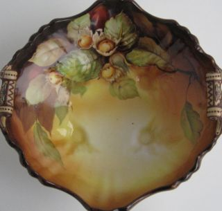 ! ANTIQUE VINTAGE HAND PAINTED NIPPON BOWL MORIAGE FOOTED BOWL M MARK