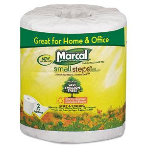 Marcal 100 Recycled Bath Tissue Toilet Paper 48 Rolls