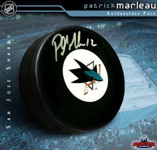 Patrick Marleau Signed San Jose Sharks Puck