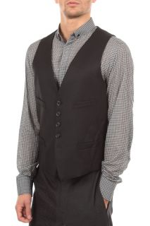 Man Waistcoat SZ48 BAB35 4 Mark Ruffalo Black Defect Italy Made