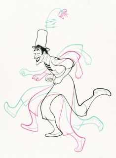Marcel Marceau Limited Edition Lithograph Hand Signed Al Hirschfeld