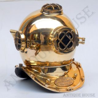 Mark V US Navy Diving Helmet Scuba Vintage Nautical Décor Divers