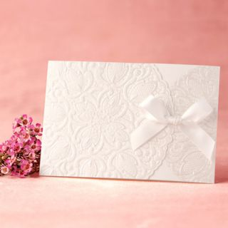 Hands Card 1 Sample Set Wedding Invitation Pure Love Silk Lace