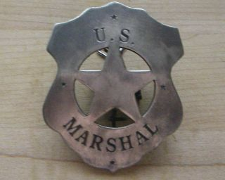 Marshall Badge B w 4 Sheriff Western Police