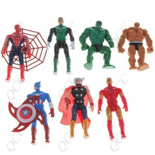 Avengers Marvel Hulk Thor Captain America Iron Man Toy Action Figures