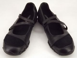Womens Shoes Black Leather Skechers 7 M Mary Jane Comfort