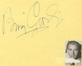Bing Crosby Vintage 1930s Original Signed Album Page Autographed