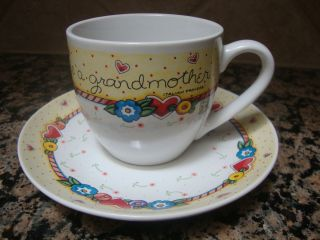 Mary Engelbreit When A Child Is Born So Is A Grandmother Cup Saucer