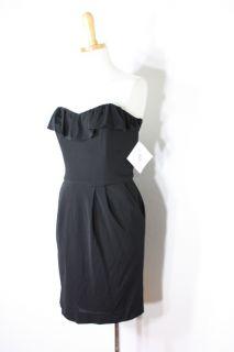 330 Mark James Badgley Mischka Summer Black Strapless Cocktail Dress