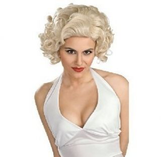 Marilyn Monroe Hollywood Star Legend Womens Blonde Curly Hair Wig