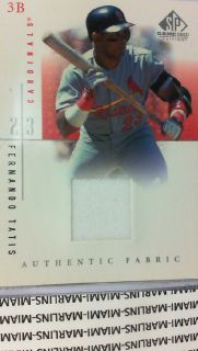 Tatis 2001 SP Game Used Authentic Fabric CARD FTa St Louis Cardinals