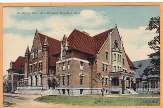 Massillon Ohio Postcard MC Kinley Hall State Hospital Insane Asylum