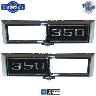 68 69 Chevy  350  Side Marker Light Bezel Trim PR