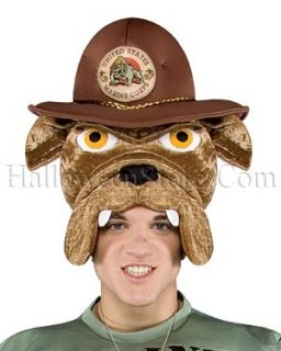 Military Mascot Adult Marine Bulldog Hat