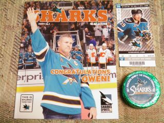 San Jose Sharks St Patricks Day Mystery Puck Sale 3 17 12 with Ticket
