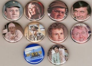 Mash TV Series Radar Hawkeye 10 Pins Buttons Badges Pinbacks