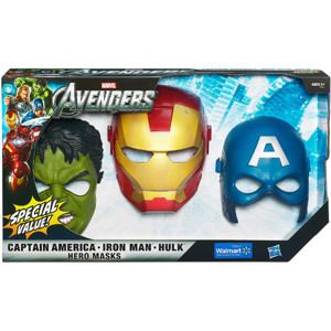 The Avengers Hero Masks Iron Man Captain American and Hulk New