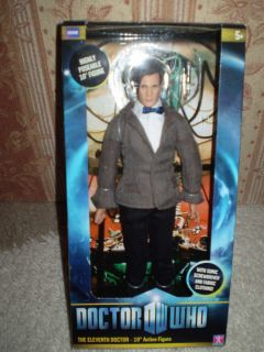 Doctor Who 11th Dr 10 inch Action Figure New Matt Smith