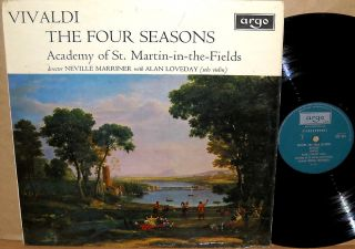 (Decca) UK Vivaldi ALAN LOVEDAY Violin MARRINER Four Seasons ZRG 654