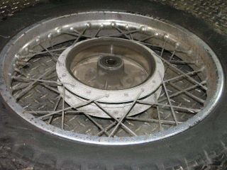 72 Suzuki T500 Titan Rear Wheel