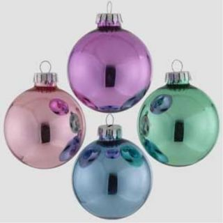 64 Victorian Style Christmas Glass Balls Ornaments