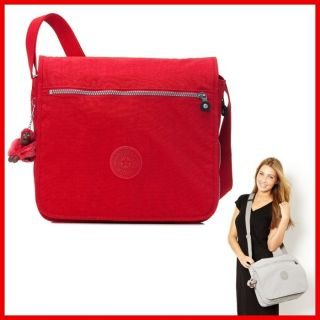 Kipling Madhouse Expandable Messenger Bag 15L x 12¼H x 5D Red New