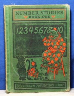 Vintage Childrens Math Book Number Stories Book One 1934