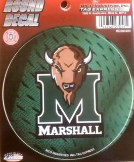 Marshall Thundering Herd 4 Round Decal Bumper Sticker Football