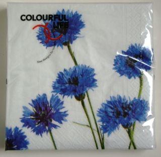 Colourful Life Paper Napkins Corn Flowers