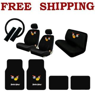 Car Front Rear Seat Covers Steering Wheel Cover Floor Mats