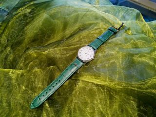 Maurice Lacroix white gold plated watch in green  on Buy