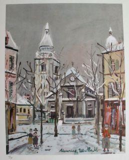 Maurice Utrillo 1955 Signed L E Lithograph Saint Pierre